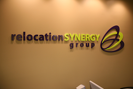 Acrylic business logo and plastic letters
